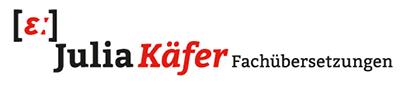 Logo Julia Käfer Fachübersetzungen