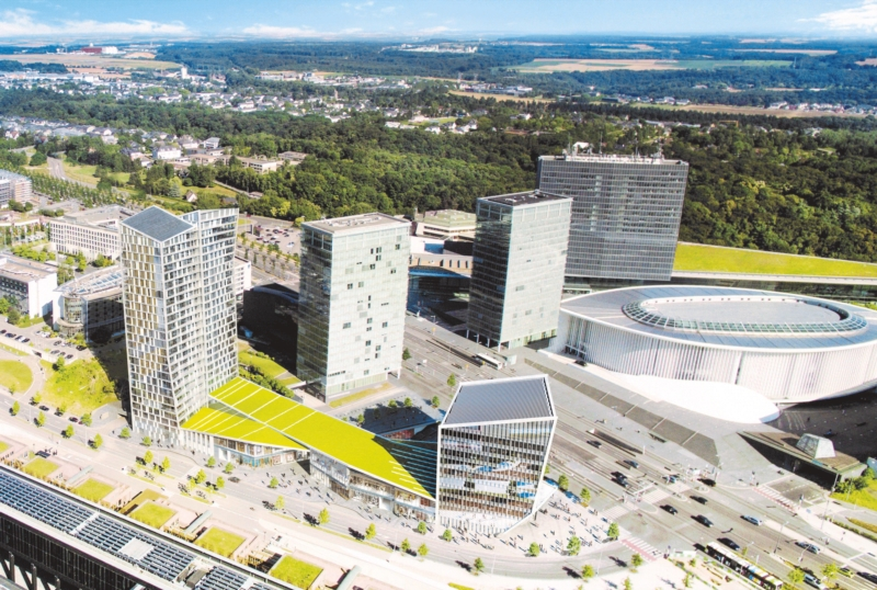 Infinity real estate complex in Kirchberg