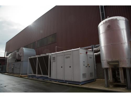 Refroidisseur à eau pour une installation à l'Ammoniac avec