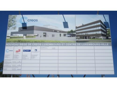 Construction du siège de Creos
