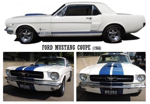 """Rent a Mustang Model """"Coupe"""""""