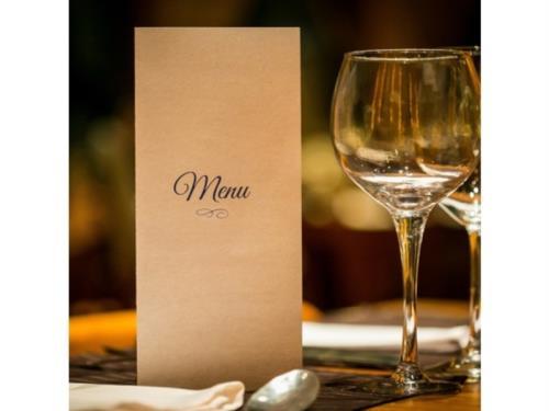 Notre menu