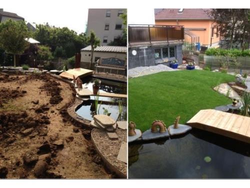 Création de jardin - Paysagiste - AVANT/APRES