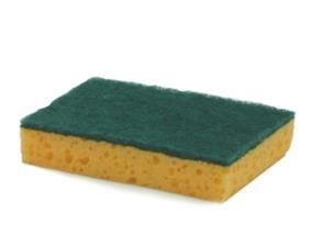 Eponge à récurer 010E 13,8 x 9,8 cm jaune/verte