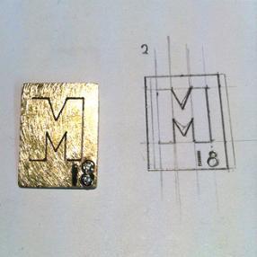 Création personnalisée avec feuilles d'or