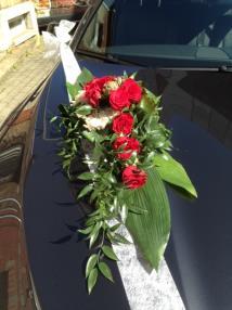 décoration de voiture de mariage