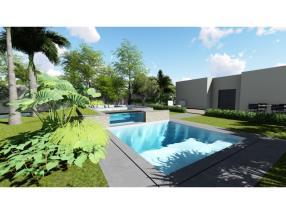 Projet 3D piscine extérieure