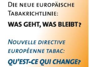 Nouvelle directive européenne tabac