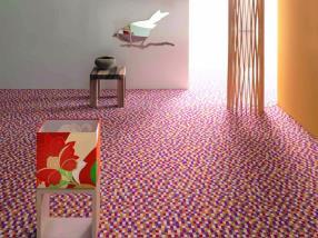 Fußboden Trier ~ Rot gefliesten fußboden granit konzentrierte sich von oben