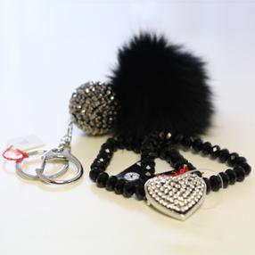 Nos bijoux fantaisie - bracelet & porte-clefs