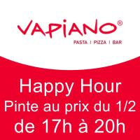 Happy Hour : Pinte au prix du 1/2
